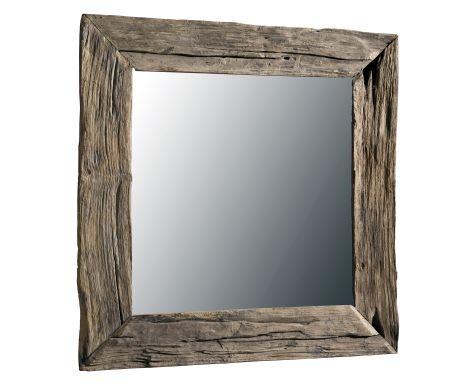 Specchio Con Cornice In Tek Antico