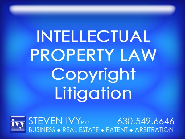COPYRIGHT LITIGATION -- With current proliferation of the internet technology, copyright protection has grown in importance and complexity. STEVEN IVY has in-depth understanding of all rules and procedures utilized by the U.S. Copyright Office and the U.S. Customs Service. Through the litigation process, our law firm can protect our clients' interests in software, film, video, photography, paintings, sculpture, books, magazines, fabric design and many other types of original works.