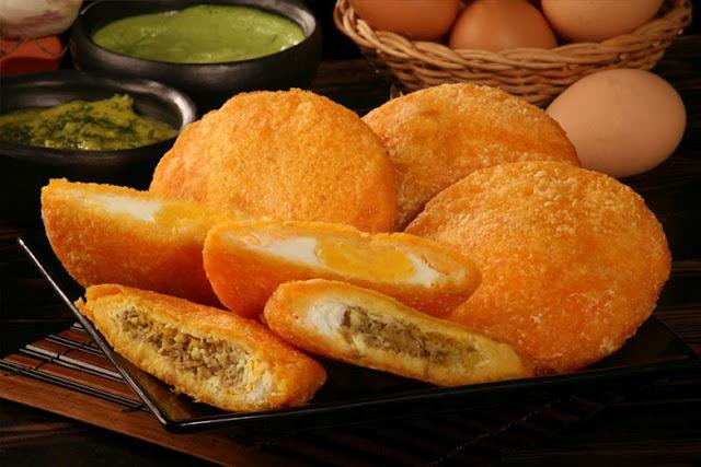 Sombrero Vueltiao: Arepa de huevo.