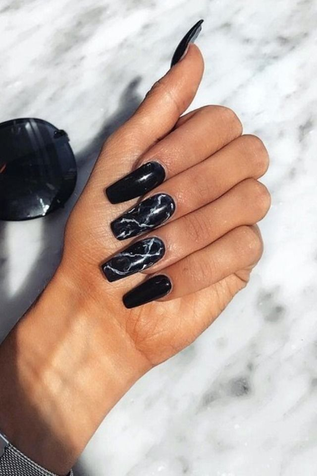 120 Best Coffin Nails Ideas That Suit Everyone Black Acrylic Nails Black Acrylic Nail Designs Red Black Nails