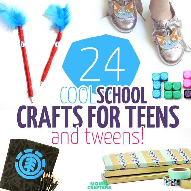 17 best images about back to school crafts on pinterest for Cool crafts for tweens