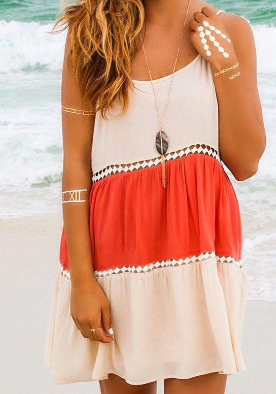 White Patchwork Red Condole Belt Cut Out Sexy Mini Dress