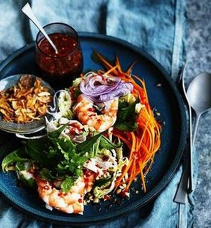 Neil Perry's Vietnamese chicken and prawn coleslaw.