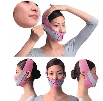 Min.order $5 (mix order)  Free Shipping Thin Face Mask Slimming Bandage Skin Care Shape And Lift Reduce Double Chin Face Belt