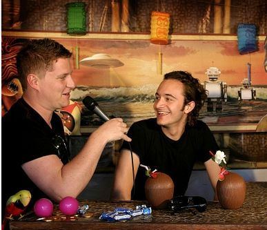 Tom and Russell during an interview.