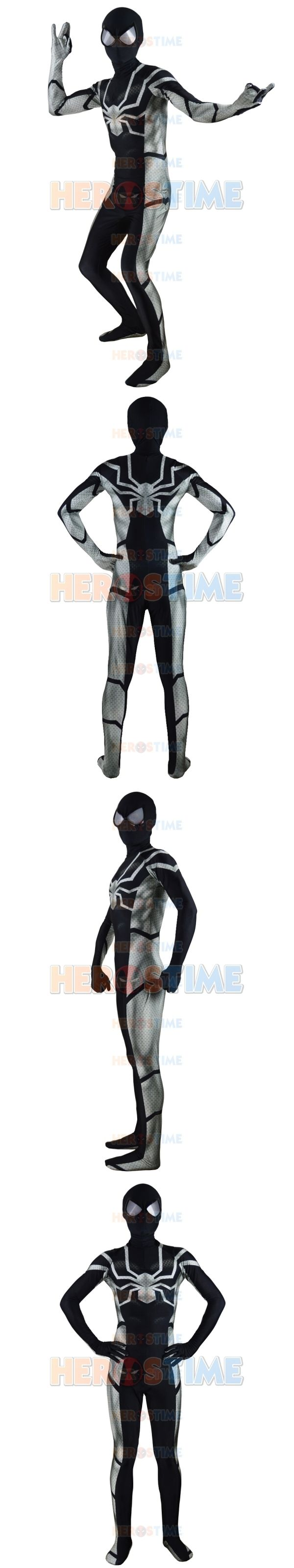 black spiderman costume 2015 Future  Spider-Man Costume Sealth Future Morph Suit Male superhero costume