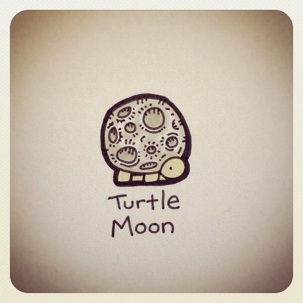 Turtle Moon #turtleadayjune - @turtlewayne- #webstagram