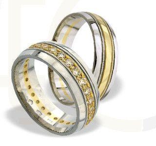 Obrączki ślubne z białego i żółtego złota/ Wedding rings made from white and yellow gol/ 4 368 PLN #wedding #weddingtime #rings #jewellery #gold