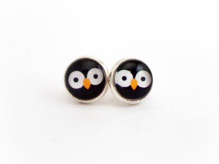 Penguin Earrings, Penguin Jewelry, Kawaii Earrings, Penguin Gift, Cute Earrings, Tween Jewelry, Tween Girl Gifts, Gifts for Tween Girls by foreverandrea on Etsy