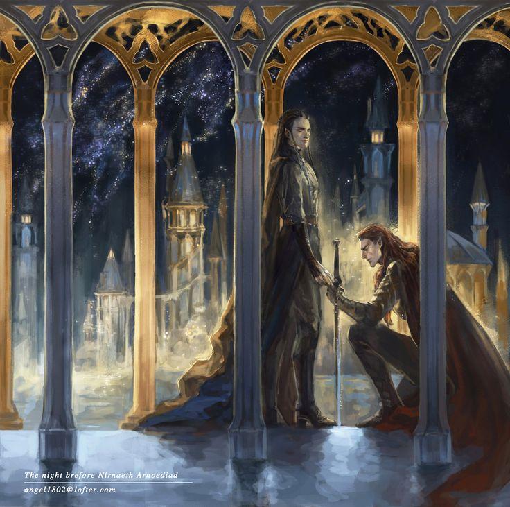 Maedhros and Fingon before Nirnaeth Arnoediad