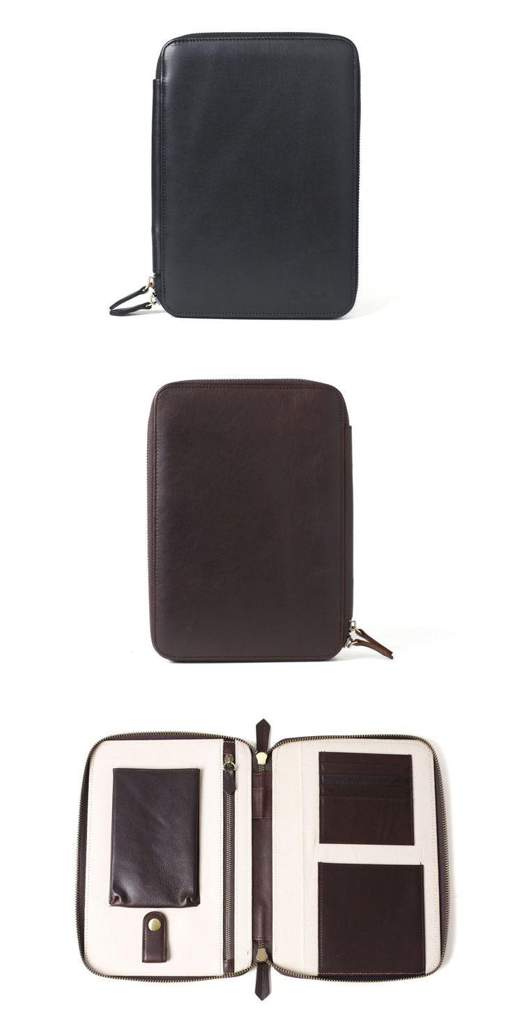 Wallets for Men Leather Travel Wallet Passport Holder - Groomsmen Gift