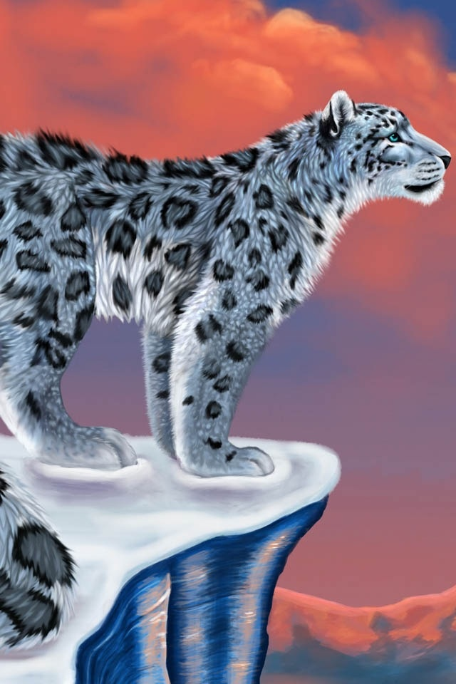 how to draw a snow leopard for kids
