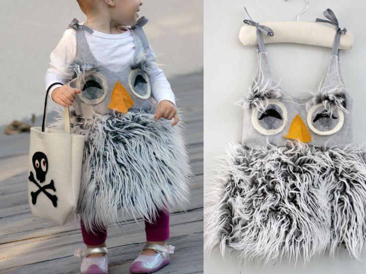 Cool owl fuzzy costume Pinned by www.myowlbarn.com