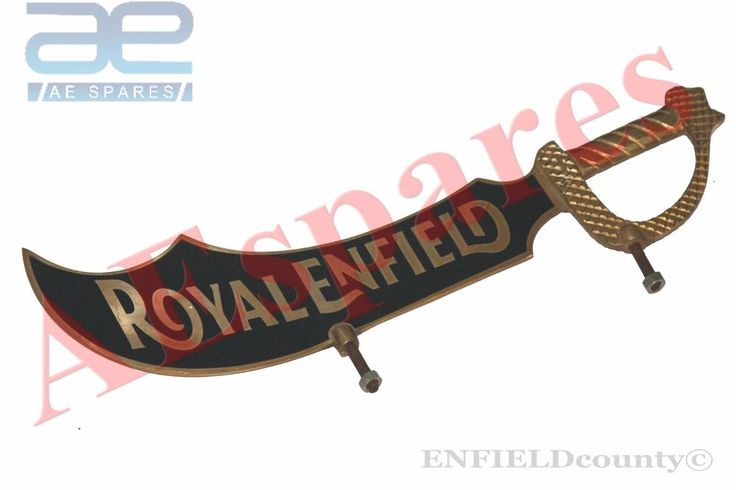 FRONT MUDGUARD NUMBER PLATE BRASS BLACK ROYAL ENFIELD UNIVERSAL FIT