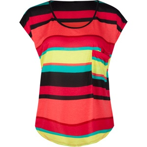 bright colors!Casual Outfit, Stripes Shirts, Black Heels, Black Jeans, Bold Colors, Double Pocket, Summer Tops, Bright Colors, Pocket Tees