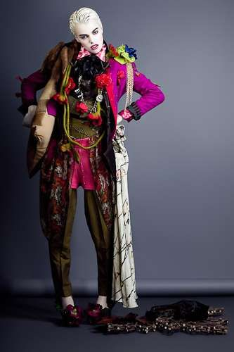 Crazy Carnival-Esque Fashion love this look circus psychedelic punk and hippy patchwork suit with a little lagenlook meets the steampunk joker style would make great costume at a comic ,batman convention..gothic and macabre clown or master of ceremonies