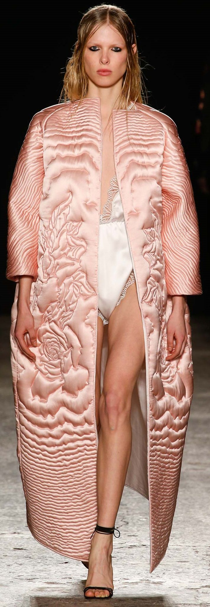 Love the quilting... Francesco Scognamiglio fall 2015 RTW