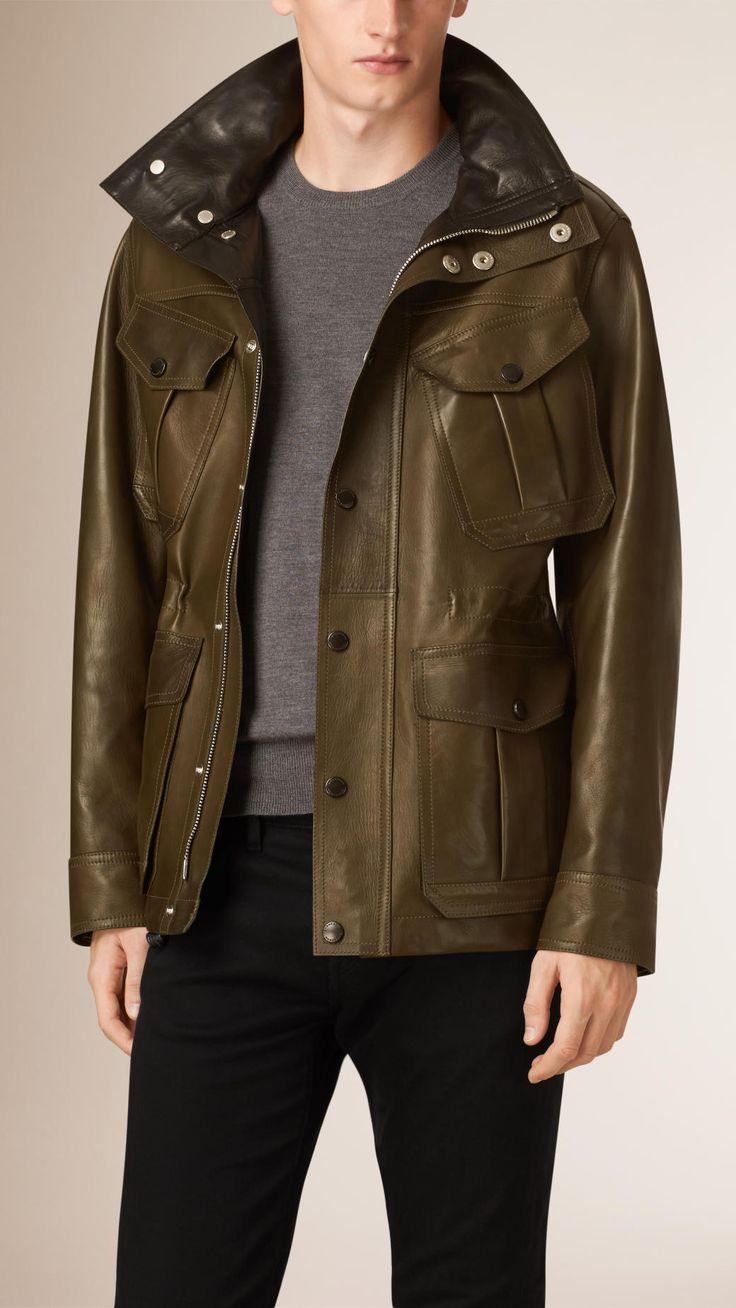 Bonded Lambskin Field Jacket | Burberry