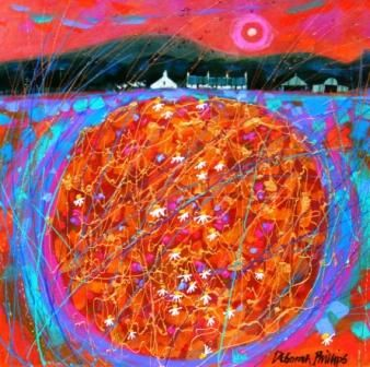 Scottish Artist Deborah PHILLIPS - Crop Circle Sunset II