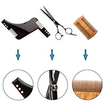 Nugilla Beard Shaping Grooming & Trimming Kit – 3 in 1 – ABS Beard Shaping Tool + Wooden Beard Comb +… Review