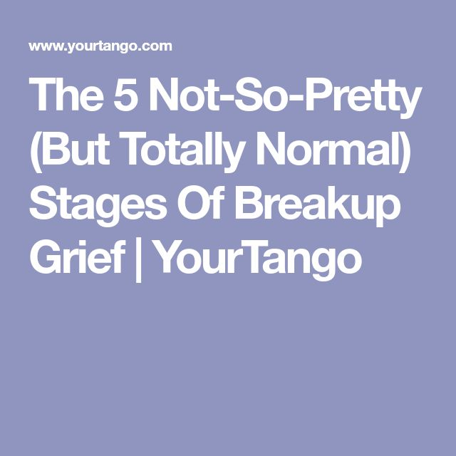 The 5 Not-So-Pretty (But Totally Normal) Stages Of Breakup Grief | YourTango