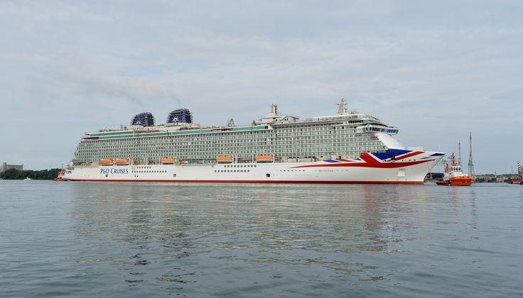 Britannia, sporting her new livery