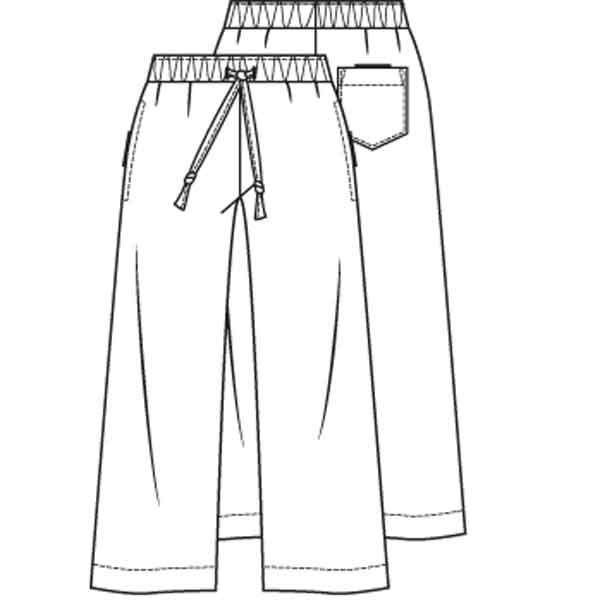Wijde rechte broek (Post patroon)-793699