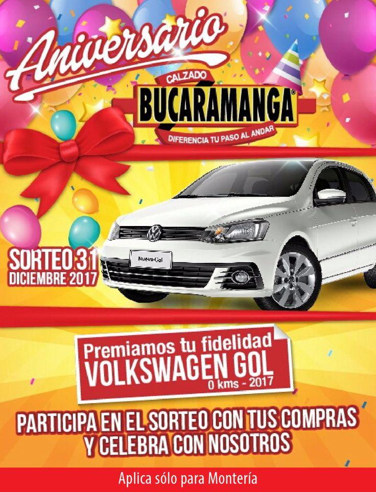 Participa en el #sorteo de un @Volkswagen Gol con tus #compras en @CalzadoBucaramanga. Aplica solo en #Montería.