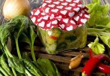 Зелёные щи на зиму — суповая заправка со шпинатом и сельдереем