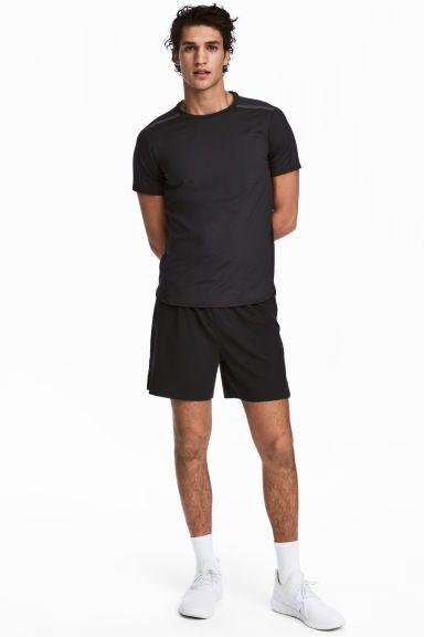 Шорты для бега - Черный - Мужчины | H&M RU 1