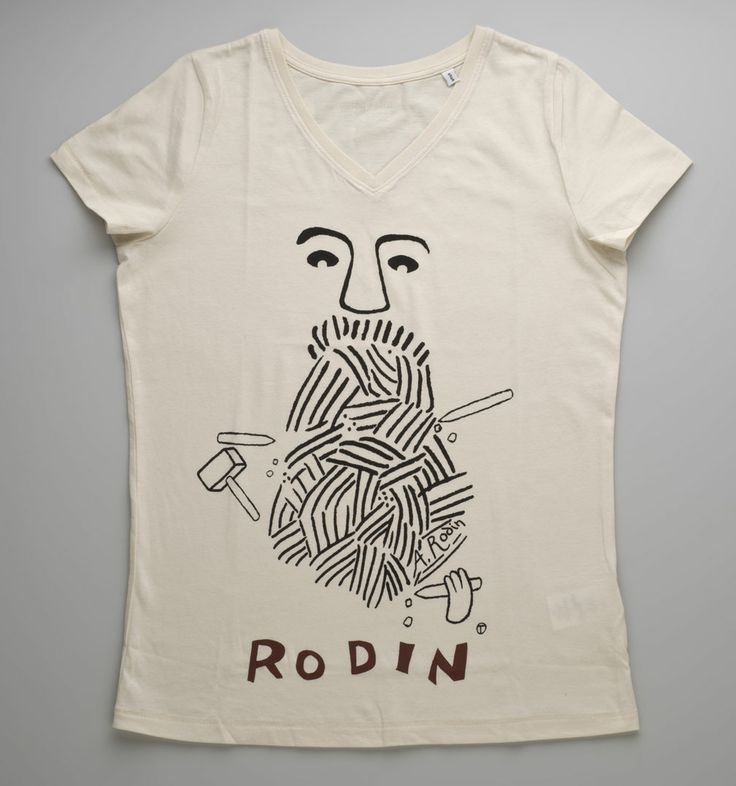 T-shirt Rodin for Women, 27 € /  © Musée Rodin, photo: Jacques Gavard / http://boutique.musee-rodin.fr/en/fashion-accessories/319-t-shirt-rodin-for-women-natural-color.html