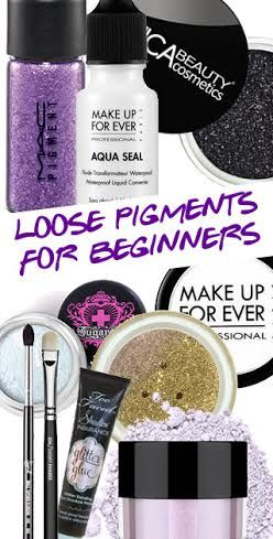 PIGMENTS FOR BEGINNERS | Discover all the different ways you can use beauty's mysterious multi-tasker....PIGMENTS! http://blog.pampadour.com/loose-pigments-beginners/