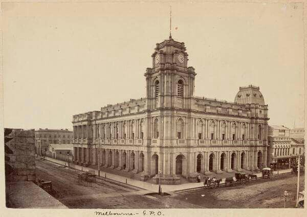 Melbourne General Post Office in 1880.