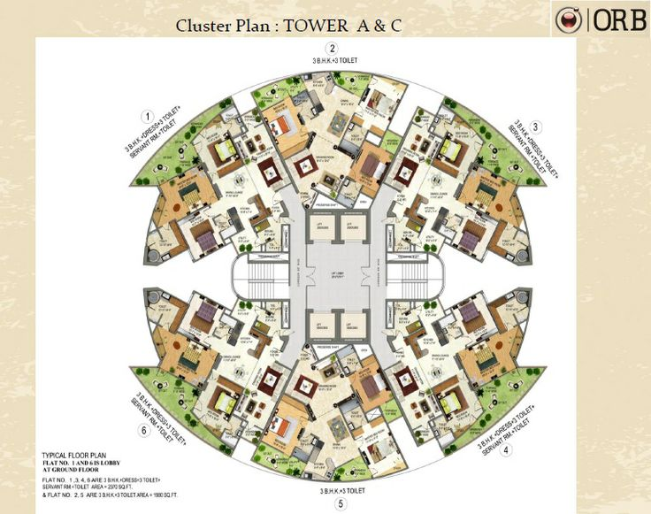 Sector noida investors clinic bhk residential apartments for Cluster house floor plan