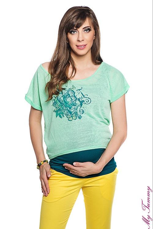 Koszulki ciążowe komplet zielony