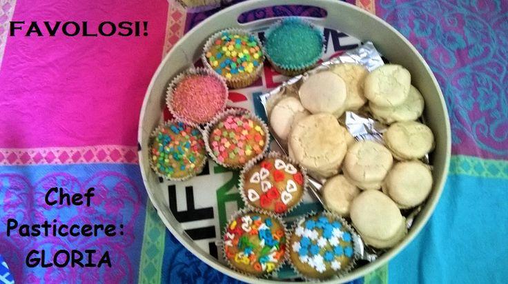 Macarons and cupcake made by niece Gloria, Italy. #cupcake #macarons