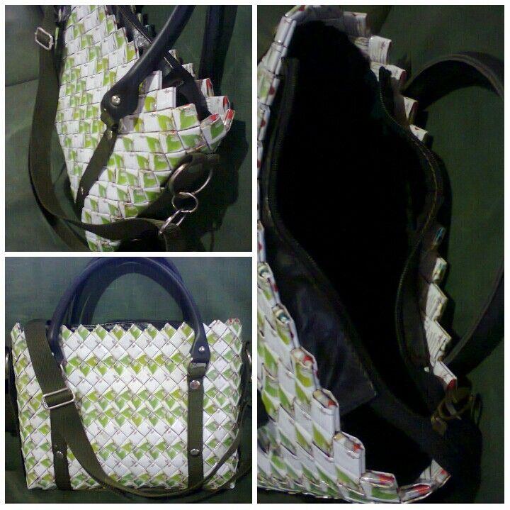 Tas anyaman bungkus kopi Model  sling bag