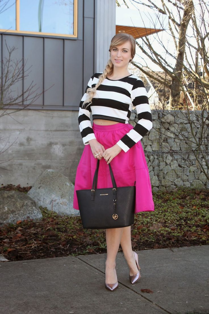 The best (and brightest) midi skirt! Come see more photos!