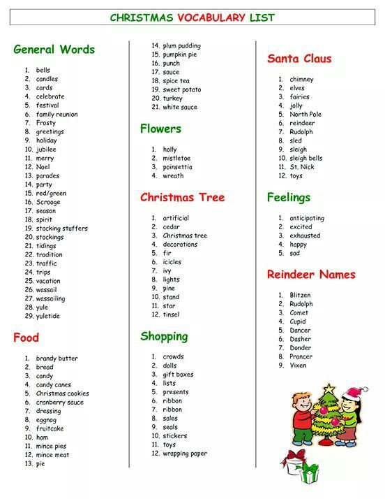 Christmas Words A Z.Christmas Words That Start With Letter Z Thecannonball Org