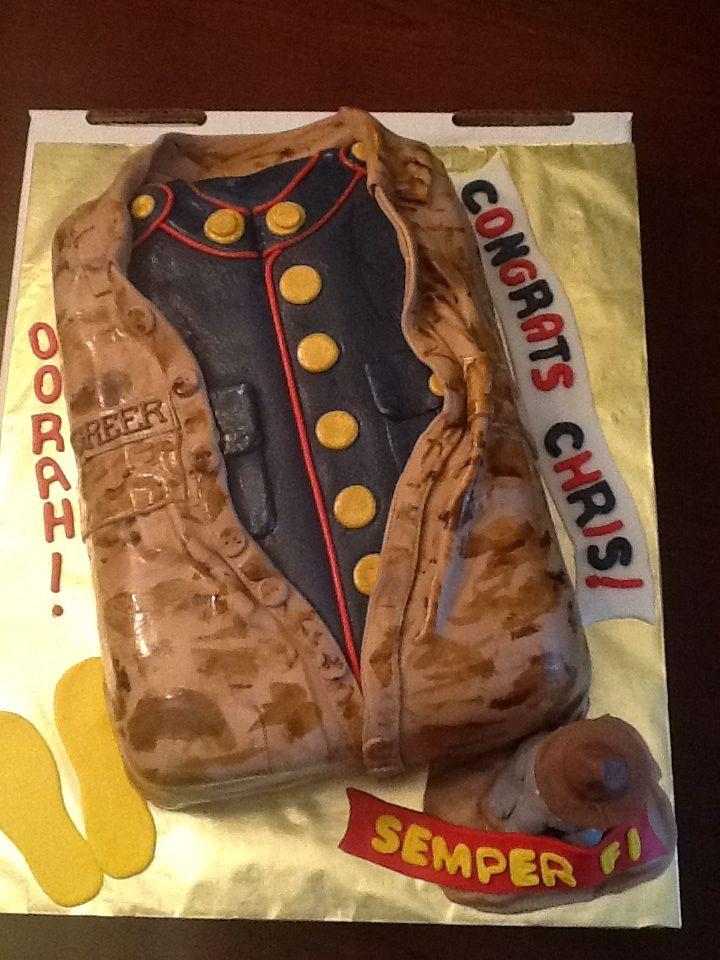 marine bootcamp flags | USMC Boot Camp Graduate Oorah! Cake
