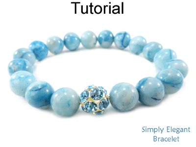 Easy Beaded Stretch Bracelet with Gemstones for Beginners Jewelry Making Pattern Tutorial by Simple Bead Patterns | Simple Bead Patterns