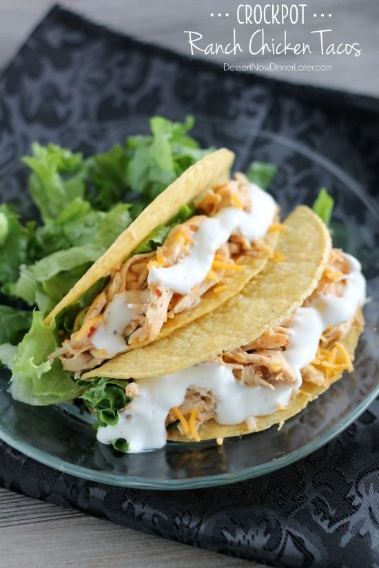 Crockpot Chicken Ranch Tacos