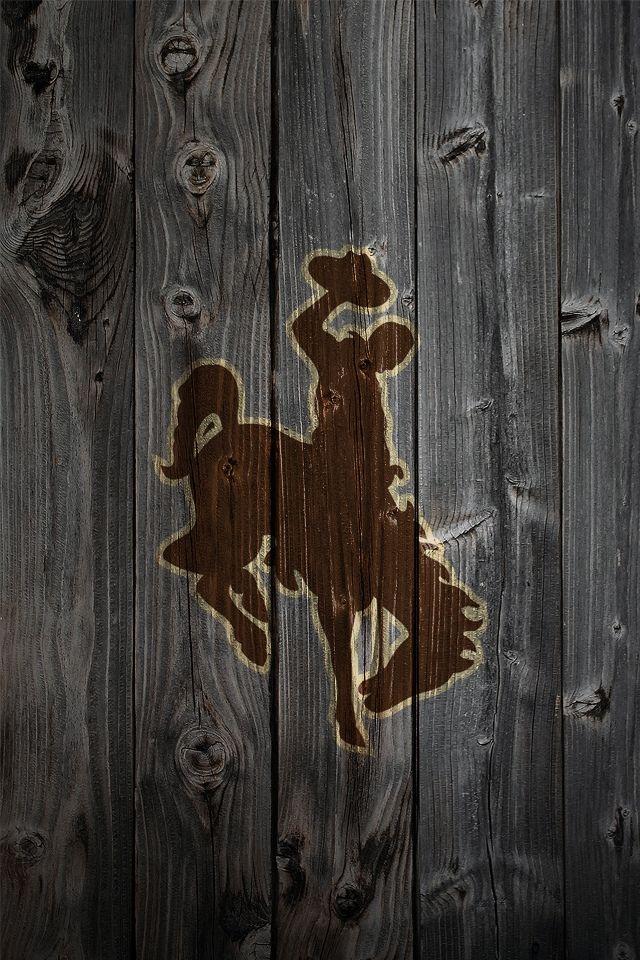 Wyoming Cowboy Joe - on weathered wood