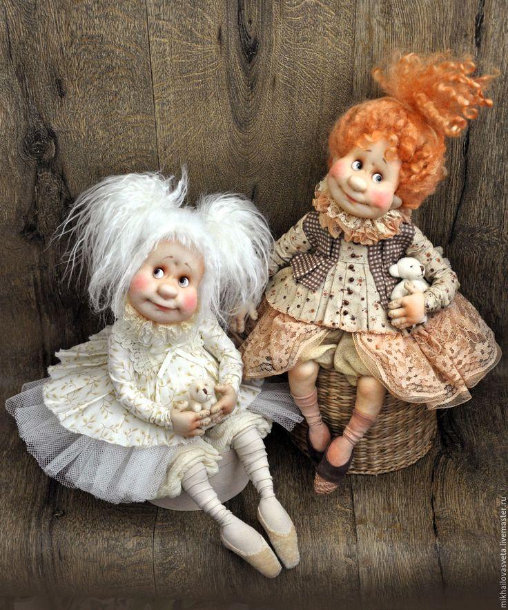 Купить Леля - белый, ангел, девочка, в детскую, в интерьер, авторская ручная работа, интерьерная кукла