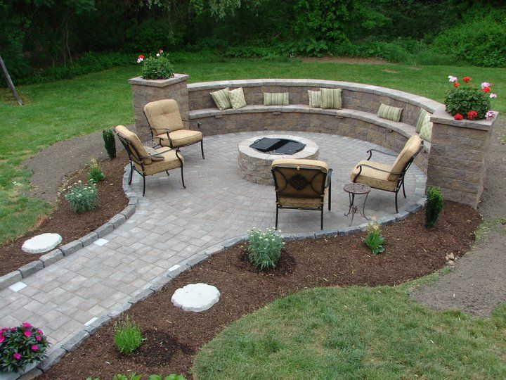 Beautiful outdoor fire pit for Flower fire pit