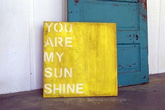 You are my sunshine.: Hands Paintings Signs, Stencil Ideas, Custom Signs, Wood Signs, Custom Wood, Paintings Canvas, Art Nurseries, Nurseries Art, Wedding Signs