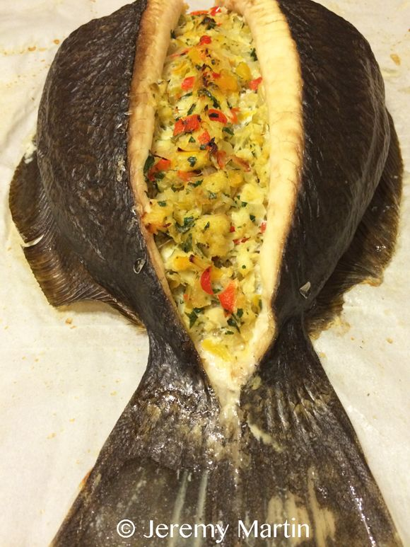 Crab-Stuffed Baked Flounder Recipe