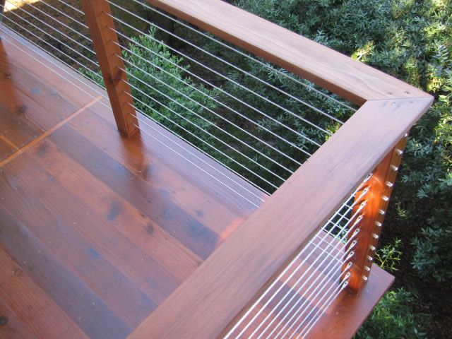 Photo: Image 1 of 9, each being unique and wonderful. This is a beautiful Wood Post and Custom Wood Top Rail Deck Railing System using Stainless Steel Cable Railing Infill from Stainless Cable & Railing Inc. For more Deck Railing Ideas visit us at http://stainlesscablerailing.com/cable-railing-photo-gallery.html