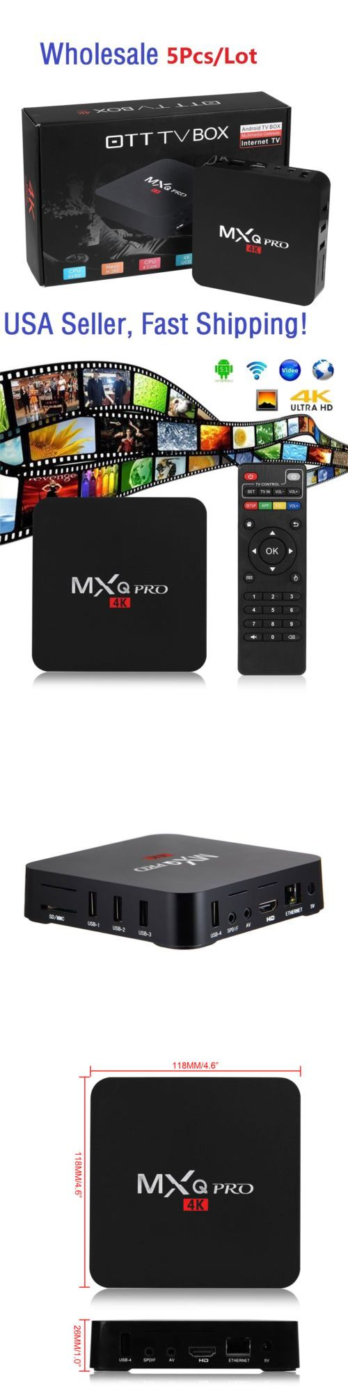 Cable TV Boxes: 5Pcs Mxq Pro 4K S905 Smart Tv Box 64Bit Quad Core Android 5.1 Free Movies 1G+8G -> BUY IT NOW ONLY: $160 on eBay!