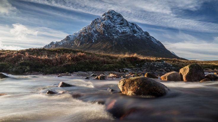 Скачать обои гора, шотландия, пейзаж, небо, камни, раздел пейзажи в разрешении 1920x1080
